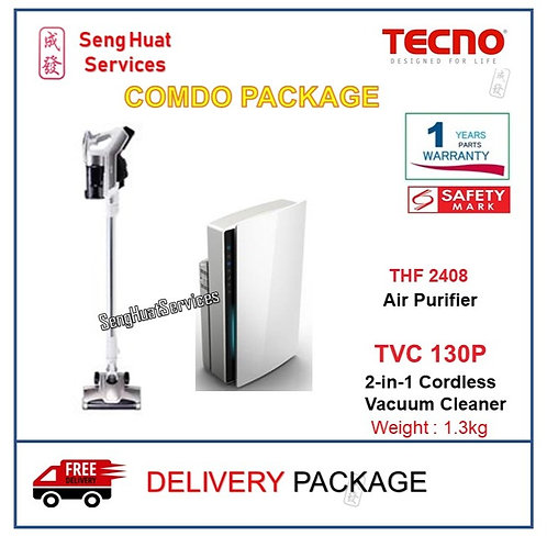 TECNO THF2408 and TVC130P (Air Purifier & Cordless Vacuum Cleaner) DELIVERY