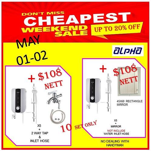 ALPHA X5 Instant Heater Weekend Sale