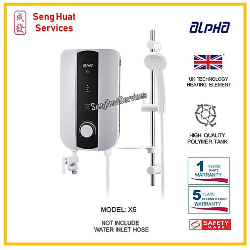 ALPHA X5 Instant Water Heater ( SERVICES OPTION TO SELECT )