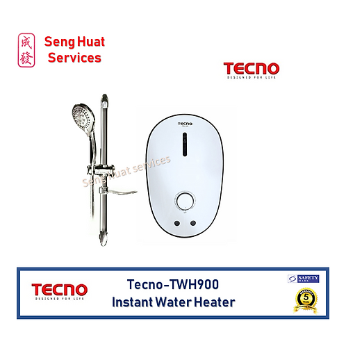 Tecno TWH900 White Instant Water Heater Set FOC Delivery