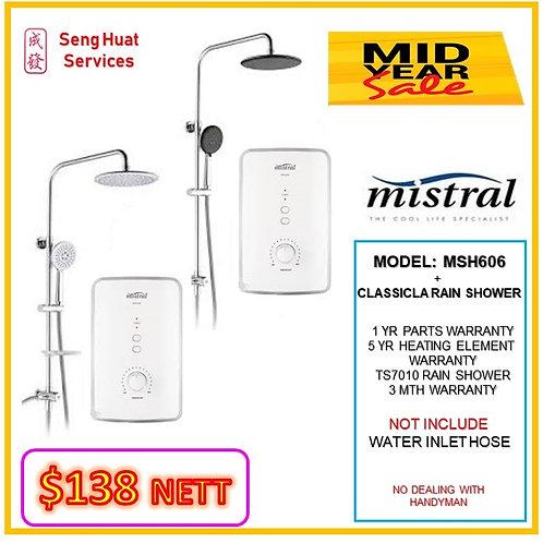 Mistral MSH606 Heater + CLASSICLA Rain Shower MID YEAR SALE