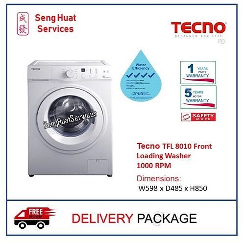 Tecno TFL 8010 Front Loading Washer DELIVERY