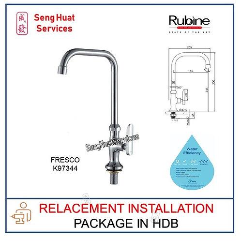 RUBINE  K97344 Kitchen Sink Cold Tap REPLACE