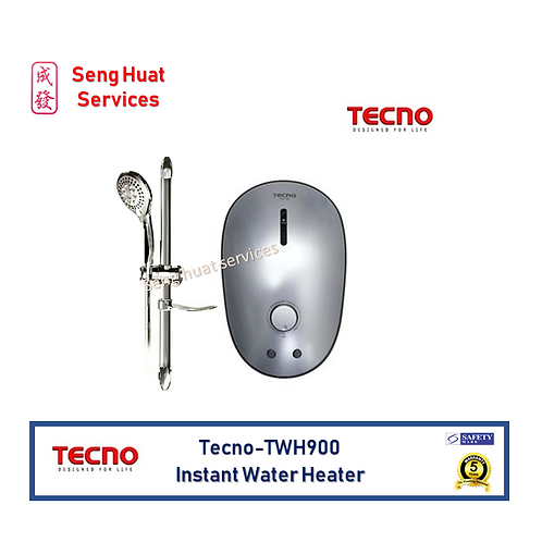 Tecno TWH900 Silver Instant Water Heater Set FCO Delivery
