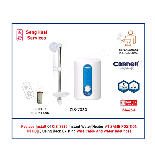 REPLACE INSTALL OF Cornell CIS-7330 Instant Water Heater COD