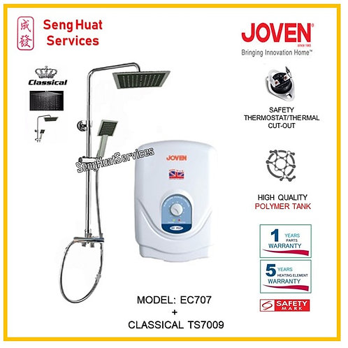 Joven EC707 Instant Heater + Classical Rain Shower ( SERVICES OPTION TO SELECT)