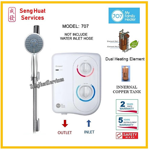 707 COMACT Instant Water Heater ( INSTALLATION OPTION TO SELECT )