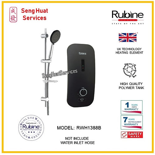 Rubine RWH-1388B Instant Water Heater ( SERVICES OPTION  TO SELECT )