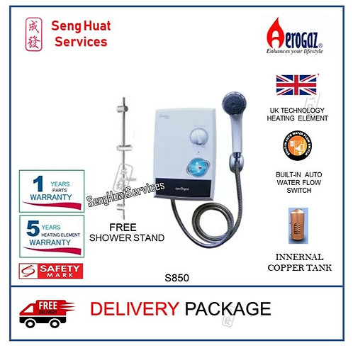 Aerogaz S850 Instant water heater Free Shower Stand With Delivery COD