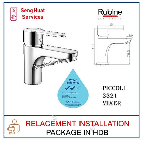 Rubine Piccoli 3321 Basin Hot/Cold Mixer TAP  REPLACE COD
