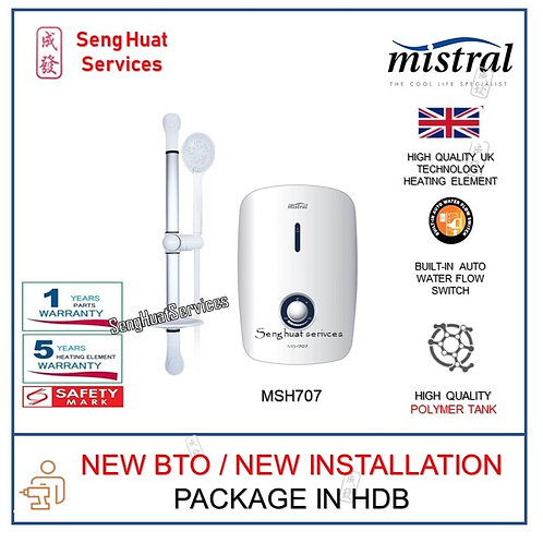 Mistral MSH707 Instant Water Heater NEW BTO INSTALL COD