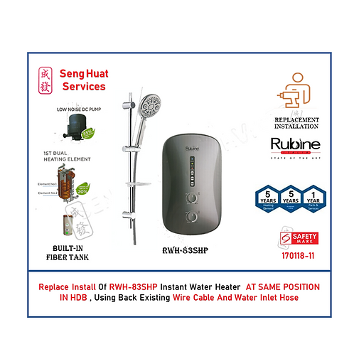 REPLACE INSTALL OF Rubine RWH-83 SHP Instant Water Heater