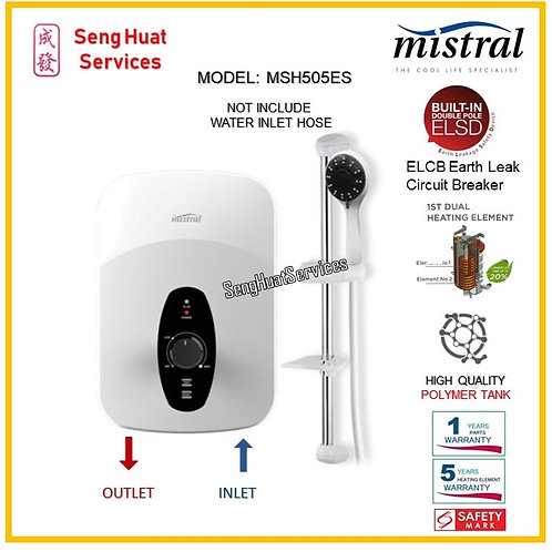 Mistral MSH505ES Instant Heater ( SERVICES OPTION TO SELECT )