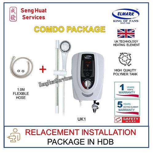 REPLACE INSTALL OF Elmark UK1 instant heater + 1.0M Flexible Hose