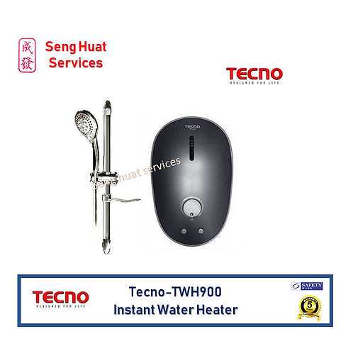 Tecno TWH900 Black Instant Water Heater Set FOC Delivery