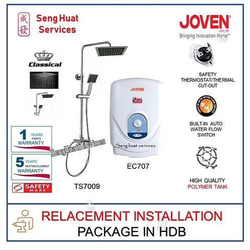 Joven EC707 Instant Heater  CLASSICAL Rain Shower REPLACE INSTALL COD