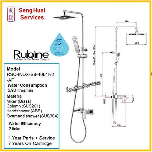 RUBINE RSC-INOX-S8-4061R2-AF Rain Shower Set