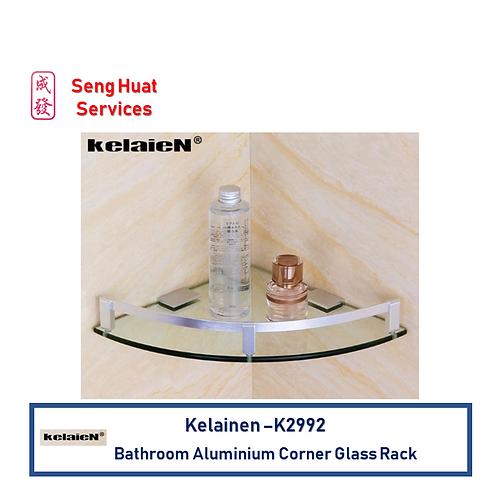 Kelaien K-2992 Bathroom Aluminium Corner Glass Rack FOC Delivery