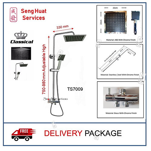 Classical TS7009 Rain Shower Set DELIVERY COD