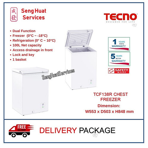 Tecno TCF138R 100L Chest Freezer