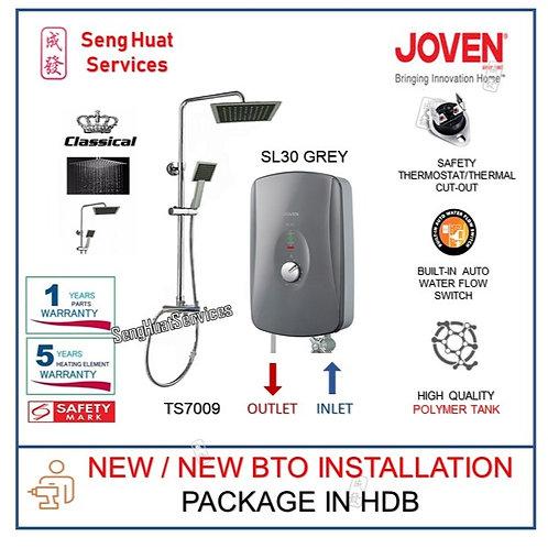Joven SL30 GREY Instant Heater With Rain Shower NEW BTO INSTALL