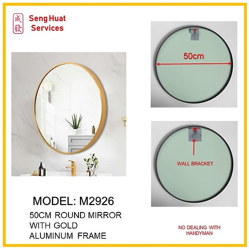 M-2926 Bathroom Round Mirror ( SERVICES OPTION TO SELECT )