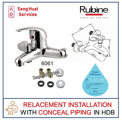 Rubine 6061 Mixer Tap AT CONCEAL PIPING REPLACE COD