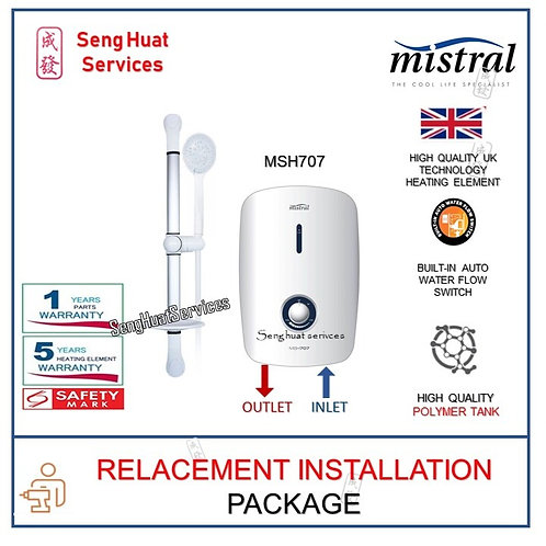 Mistral MSH707 Instant Water Heater REPLACE INSTALL