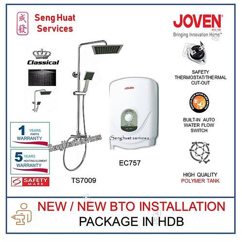 Joven EC757 Instant Heater + CLASSICAL Rain Shower NEW BTO INSTALL  COD