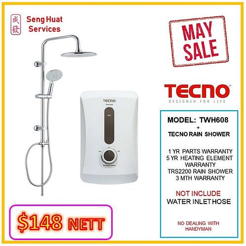 TECNO TWH608 Instant  Heater+TECNO Rain Shower MAY SALE