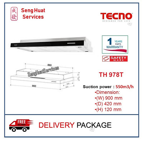 Tecno TH 978T Slim Line Cooker Hood