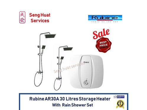 Rubine AR30A 30L Storage Heater With 2 Rain Shower Set FOC Delivery