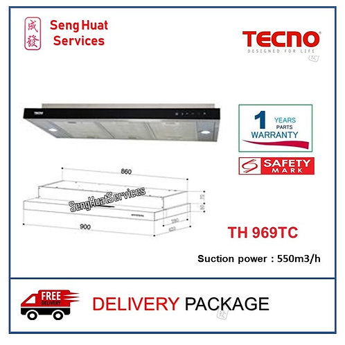 Tecno TH 969TC Slim Line Cooker Hood With LED Touch Controls