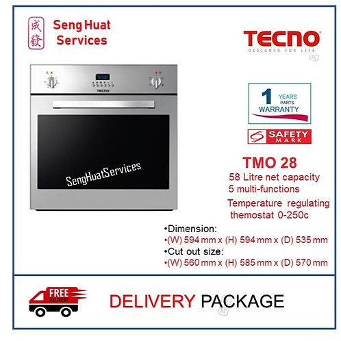 Tecno TMO 28 5 Multi-Function Electic Built-in Oven COD