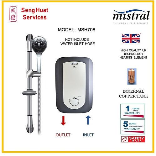 Mistral MSH708 Instant Water Heater ( SERVICES OPTION TO SELECT )
