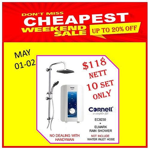 CORNELL EC8230 INSTANT WATER HEATER Weekend Sale