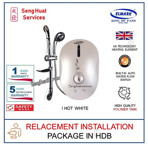 Elmark i Hot WHITE Instant Water Heater REPLACE INSTALL COD