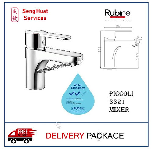 Rubine Piccoli 3321 Basin Hot/Cold Mixer TAP DELIVERY COD