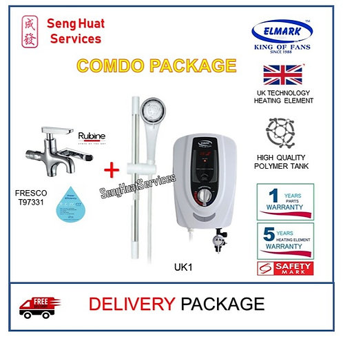 Elmark UK1 instant heater + T97331 2 Way Tap With  Delivery