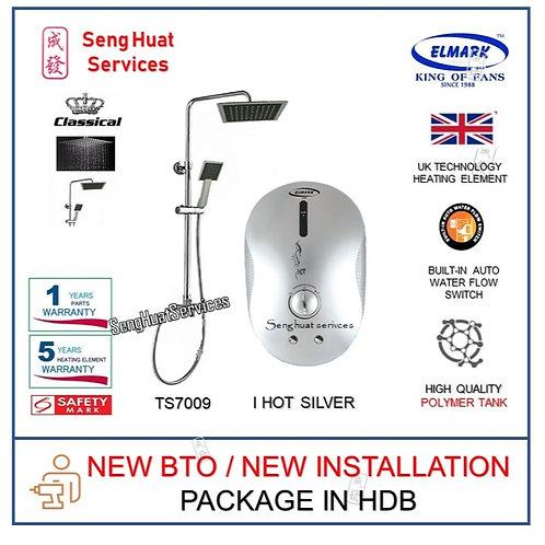 NEW BTO INSTALL i Hot SILVER Instant Heater +TS7009 Rain Shower COD