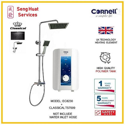 Cornell EC-8230  Heater + CLASSICLA Rain Shower  ( SERVICES OPTION TO SELECT )