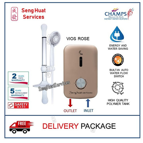 Champs Vios ROSE Instant Water Heater With Delivery