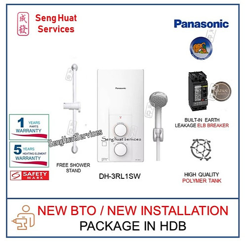 NEW BTO INSTALL OF Panasonic DH3RL1SW Instant Water Heater COD