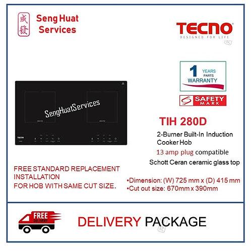 TECNO TIH 280D 2-Burner Built-In Induction Cooker Hob COD