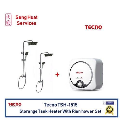 Tecno TSH-1515 15 litres Storage Tank Heater With 2 Rain Shower Set