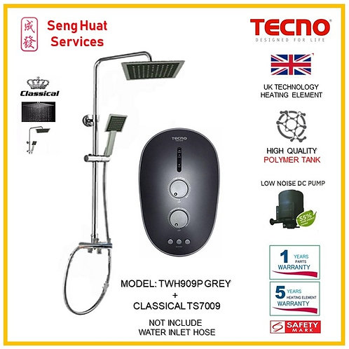 Tecno TWH909P Heater + CLASSICLA  Rain Shower ( SERVICES OPTION SELECT)