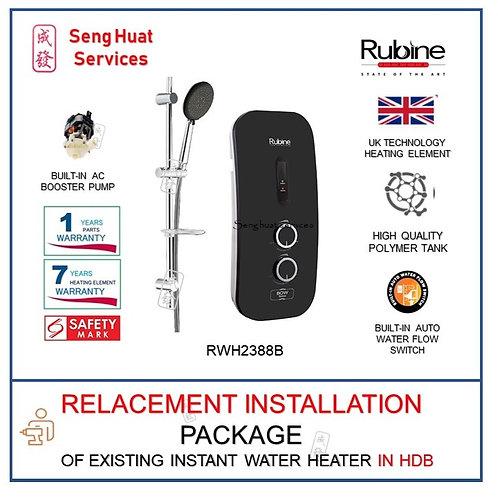 Rubine RWH-2388B NO RAIN SHOWER SET instant Heater COD