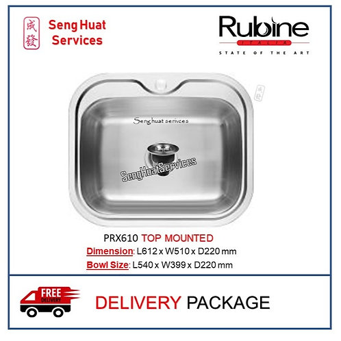 Rubine PRX-610 TOP MOUNTED SINK DELIVERY