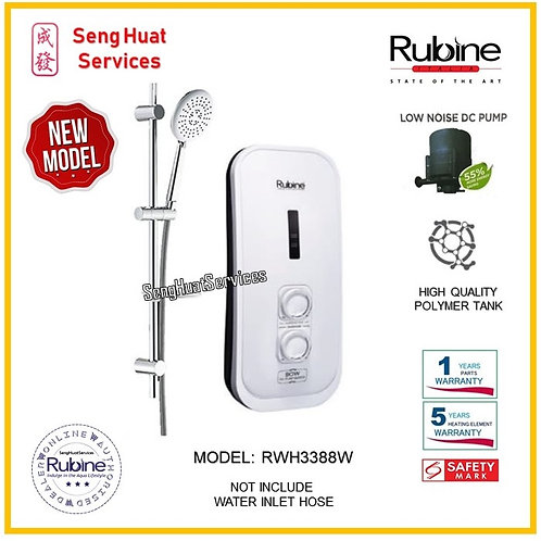 Rubine RWH 3388W  Instant Heater NO RAIN SHOWER( SERVICES OPTION TO SELECT )