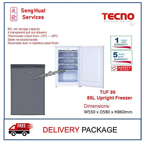 Tecno TUF 89 85L Upright Freezer COD